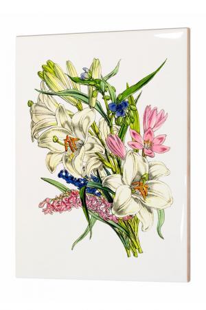 Картина Винтажный букет Glambers. Цвет: мультицвет