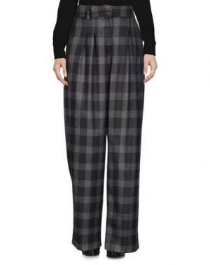 Повседневные брюки MICHELA MII. Цвет: стальной серый