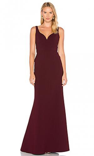 Вечернее платье с декольте JILL STUART. Цвет: красный