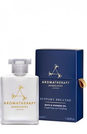 Масло для ванны и душа легкое дыхание Support Breathe Bath & Shower Oil Aromatherapy Associates. Цвет: бесцветный