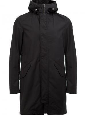 Стеганое пальто Herno. Цвет: чёрный