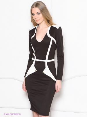 Платье Enna Levoni. Цвет: темно-коричневый, белый