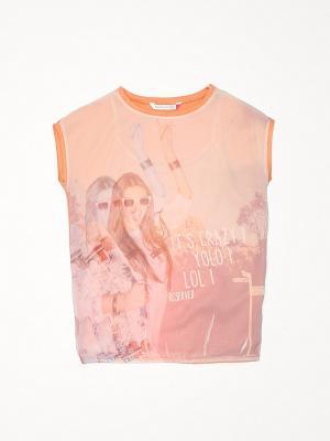 Блузка Reserved. Цвет: оранжевый