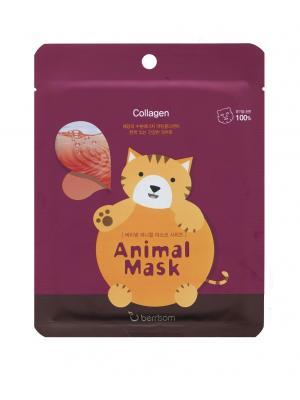 Маска для лица серии Animal mask  Кошка Berrisom. Цвет: белый