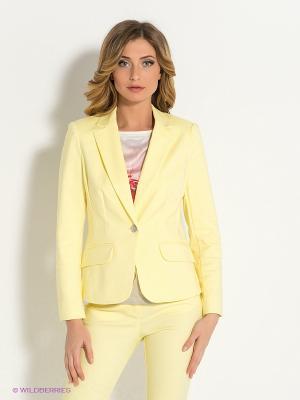 Пиджак Pompa. Цвет: желтый