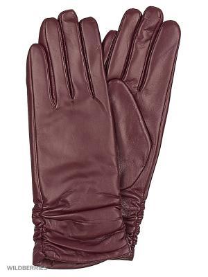 Перчатки женские Marco Bonne`. Цвет: темно-бордовый