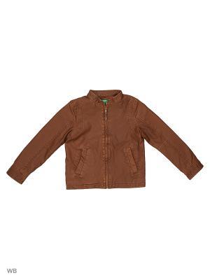 Куртка United Colors of Benetton. Цвет: коричневый, кремовый