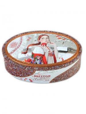 Чай Hilltop Королевское золото 100 гр. овал. шкатулка Первый снег, шт. Цвет: черный
