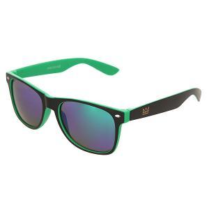 Очки  Sunglasses Black/Green Nomad. Цвет: черный,зеленый