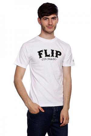 Футболка  Cholo White Flip. Цвет: белый