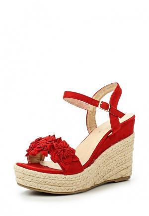 Босоножки Coco Perla. Цвет: красный