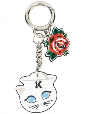 Брелок для ключей Captain Karl Fun Lagerfeld. Цвет: белый