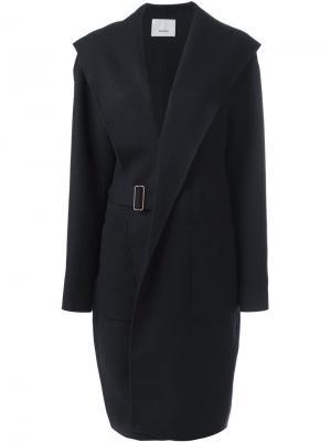 Пальто с поясом 08Sircus. Цвет: синий