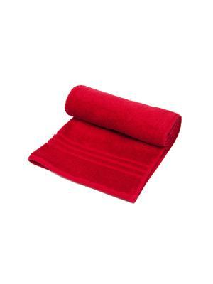 Полотенце махровое ARLONI. Цвет: бордовый