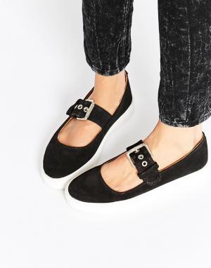 YRU Обувь на плоской подошве Chill Mary Jane. Цвет: черный