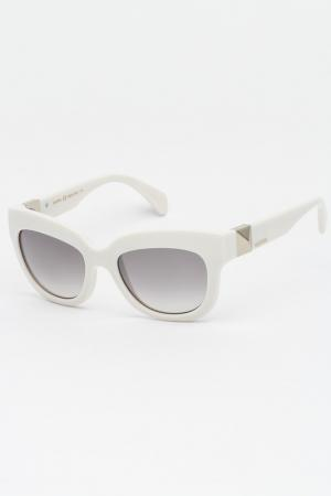 Очки солнцезащитные Valentino. Цвет: белый