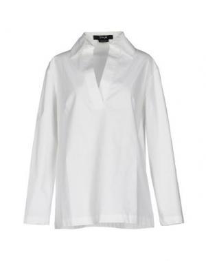 Блузка TY-LR. Цвет: белый