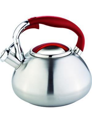 Чайник со свистком 3литра. RAINSTAHL. Цвет: красный