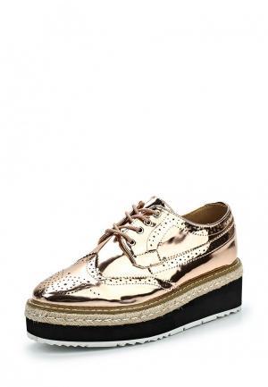 Ботинки WS Shoes. Цвет: золотой