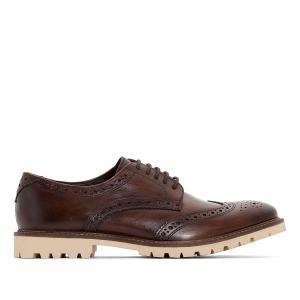 Ботинки-дерби кожаные Raid BASE LONDON. Цвет: каштановый
