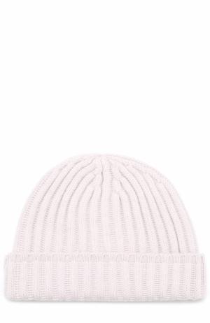 Кашемировая шапка фактурной вязки Tegin. Цвет: светло-розовый