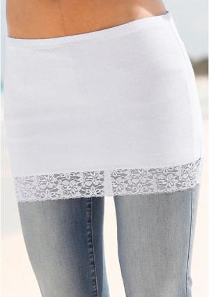 Юбка-мини, 2 штуки BEACH TIME. Цвет: белый+черный, серый меланжевый+черный