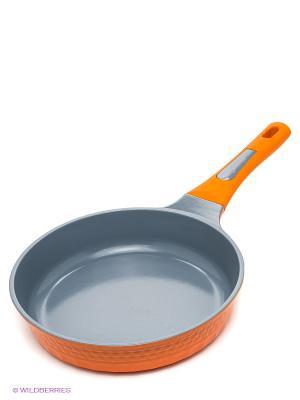 Сковорода, 24 см Winner. Цвет: оранжевый, серый