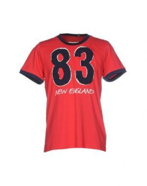 Футболка NEW ENGLAND. Цвет: красный