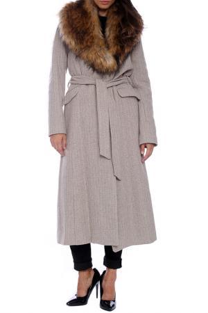 Пальто Emma Monti. Цвет: бежевый