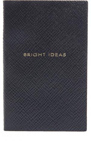 Записная книжка Smythson. Цвет: темно-синий