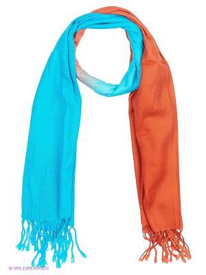 Платок Vittorio Richi. Цвет: голубой, оранжевый