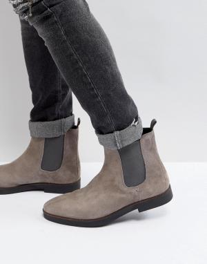 Zign Серые замшевые ботинки челси. Цвет: серый