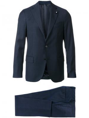 Деловой костюм Lardini. Цвет: синий