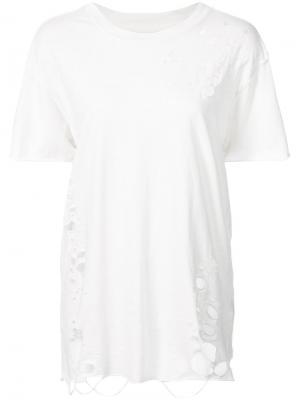 Distressed T-shirt NSF. Цвет: белый