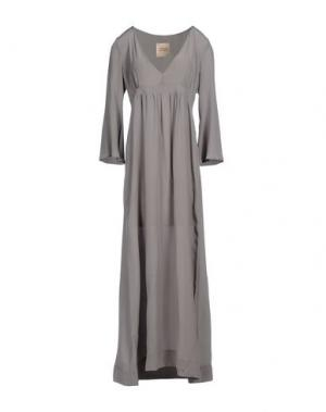 Длинное платье GARAGE NOUVEAU. Цвет: серый