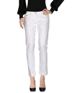 Повседневные брюки ELISABETTA FRANCHI JEANS for CELYN B.. Цвет: белый