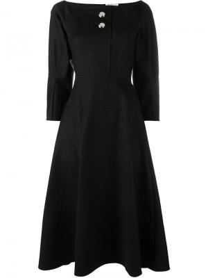 Платье с длинными рукавами Mina Rejina Pyo. Цвет: чёрный