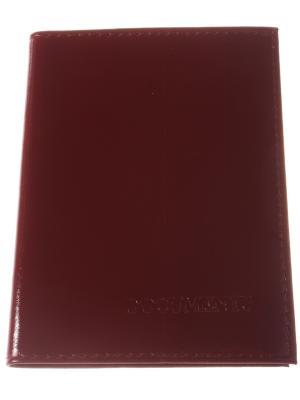 Обложка для автодокументов, гладкий бардовый Радужки. Цвет: бордовый