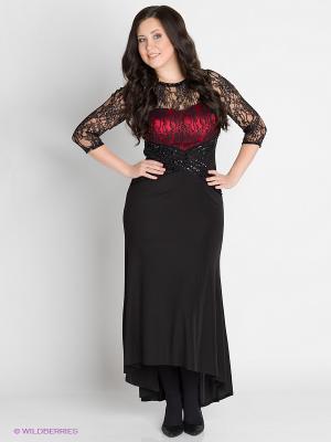 Платье VERDA. Цвет: черный, красный