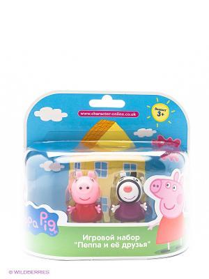 Игровой набор Пеппа и Зои Peppa Pig. Цвет: розовый, белый, фиолетовый, черный