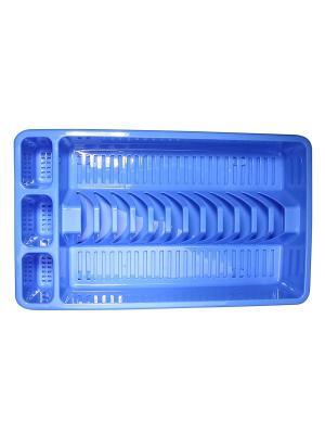 Сушилка для посуды с поддоном Migura. Цвет: синий