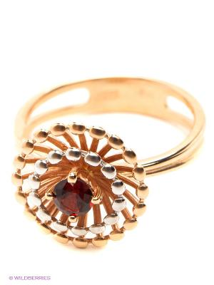 Кольцо ЭСТЕТ. Цвет: золотистый, бордовый