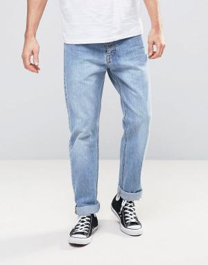 Dr Denim Светлые выбеленные прямые джинсы Ed. Цвет: синий