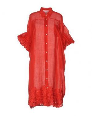 Платье до колена JUNYA WATANABE COMME DES GARÇONS. Цвет: красный