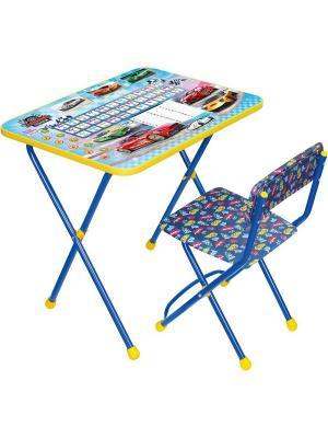 Комплект мебели (стол + стул мягк.) Nika. Цвет: синий