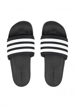 Сланцы adidas Performance. Цвет: черно-белый