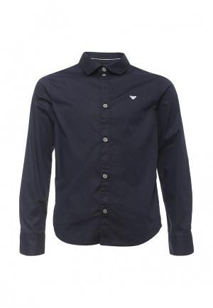 Рубашка Armani Junior. Цвет: синий
