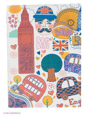 Обложка для паспорт Mitya Veselkov. Цвет: белый, фиолетовый, красный