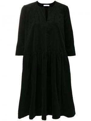 Вельветовое платье Peter Jensen. Цвет: чёрный