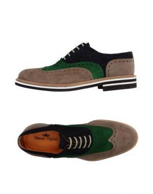 Обувь на шнурках DOMENICO TAGLIENTE. Цвет: хаки